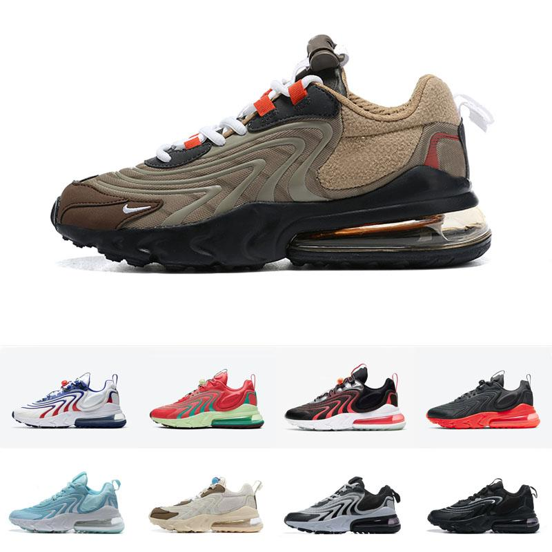 2021 REACT GRATUITA ENG UOMINI DONNA SCARPE SCARPE CATENA REAZIONE TENNIS TENNIS TELLICI BAUHAUS BAUHAUS BLACKED BLACK TRAKERS Sneakers Dimensioni 5.5-11