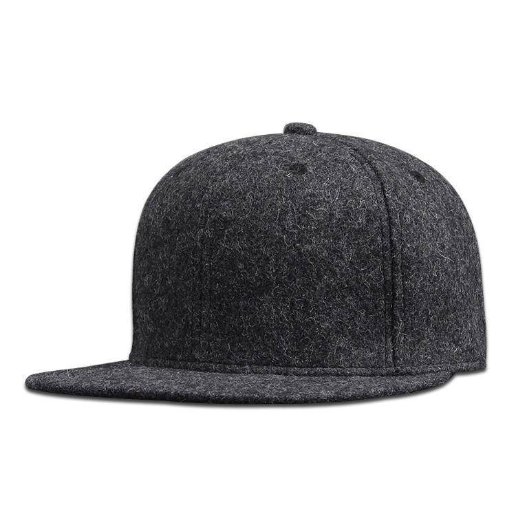 Hombre Plus Size instalado gorra de béisbol de tamaño grande Hip Hop Hat Hat Back Cerrado Cerrado de gran tamaño Snapback Cap 56cm 58cm 60 cm 62cm 64cm Y1220