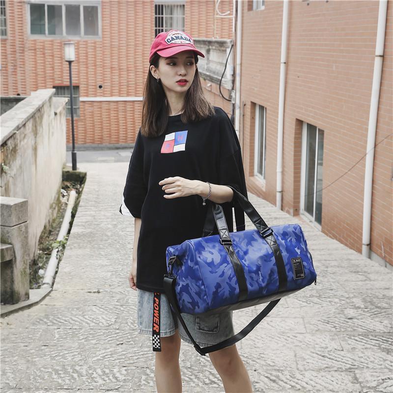 Borse da viaggio Borsa da viaggio Uomini e donne Borsa da donna Grande capacità Camouflage Design Deposito bagagli Impermeabile Fitness