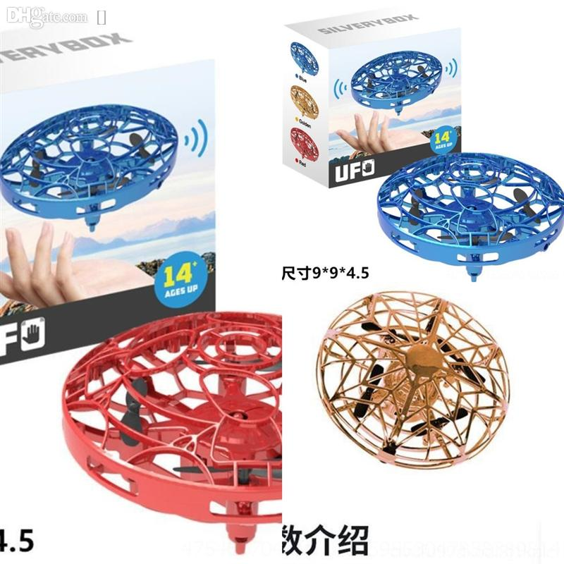 aXUj Creative Kids Flying Saucer Ufo Toy Disk Creative Flocating Games Mystery Smart Amazing Gift Children Gesture Induction ufo remote