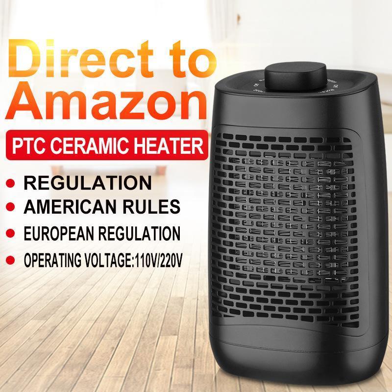 Smart Electric Heaters 1200W Fan Heater Portable Desktop Heating Warm Air Home Office Room Energy Saving Blower
