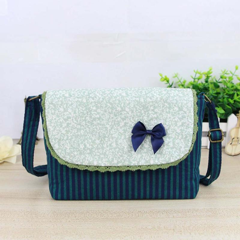 Flap Floral alta lona Qualidade pequeno saco do telefone listrado Crossbody Doce Messenger Bag Mulheres Meninas Vintage Bolsas Popular FA $ 1