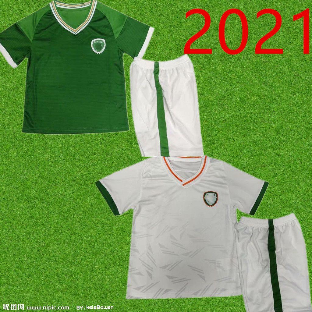 new 20 21 Ireland Kids Kit Soccer Jerseys National Team COLLINS McGOLDRICK Home Green Away White Child Football Shirts Short Sleeve Uniforms