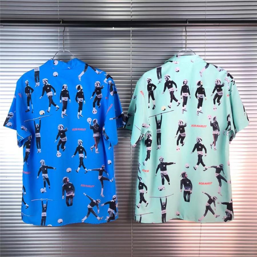 2021 новый SS пляж женщины 1: 1 высококачественная уличная одежда повседневная цифровая печать тройник рубашки гавайская рубашка мужская одежда GZ4L