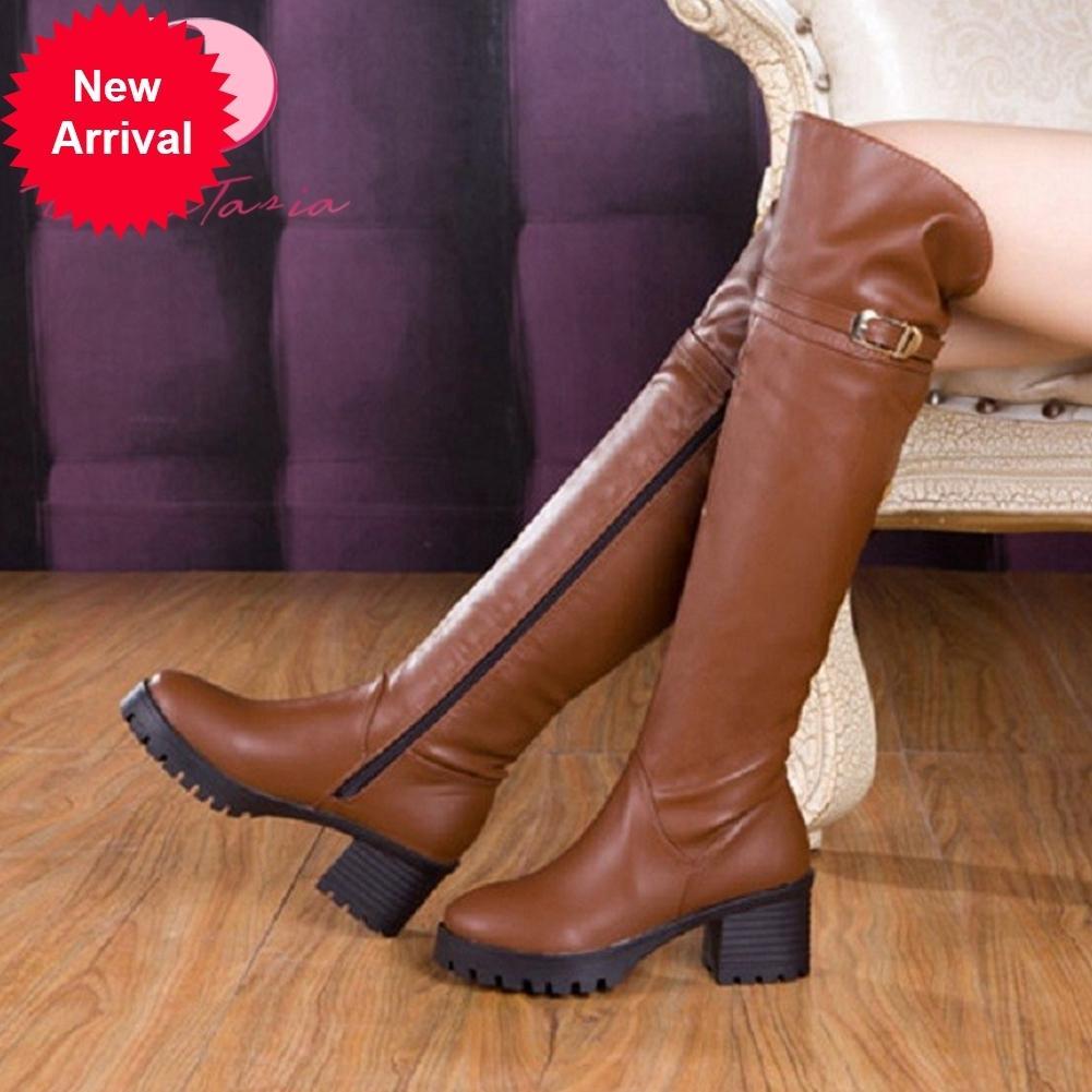 2021 Die neue neue Mode Chunky Heels an Knie-Oberschenkeln Stiefel hohe Schuhe elegante Frauen o3nh