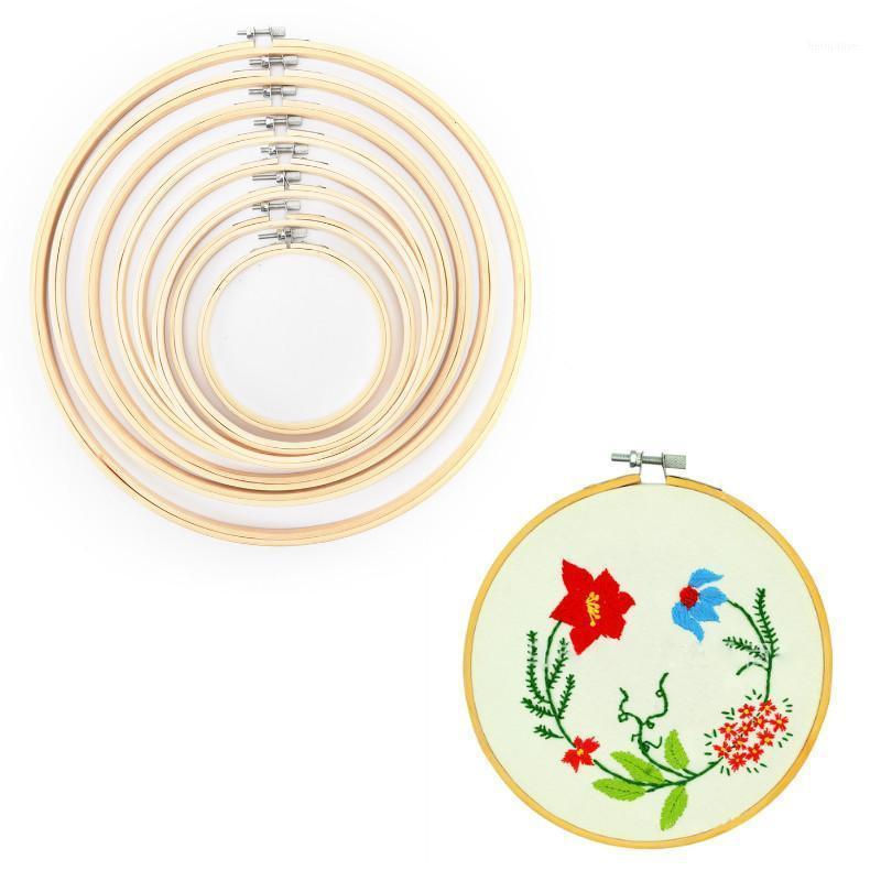Conjunto de moldura Bambu Bordado Bordado Anéis para DIY Cross Stitch Agulha ferramenta de artesanato1