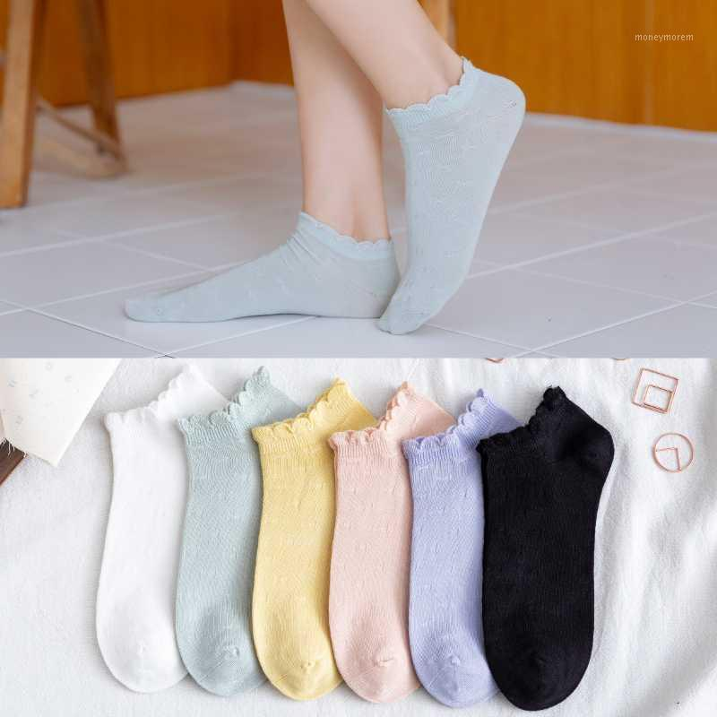 Socks & Hosiery Candy Color Cotton Casual Women Short Ankle Trendy Sweet Style Soft Cozy Ladies Girls Pure Hose Japanese Size35-401