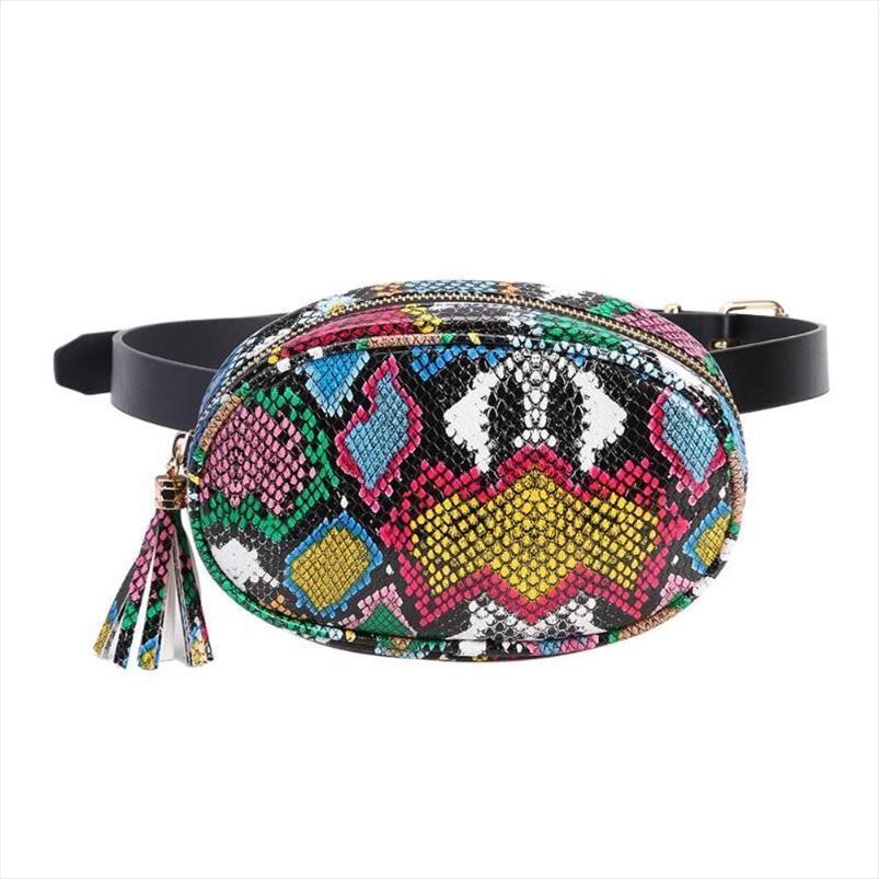 Serpentine Womens cintura Moda Packs Breves Meninas Sling Peito Bag Zipper Bag Belt por Mulheres senhoras Fanny malas de viagem da Cintura Sacos