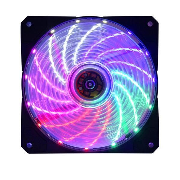 RGB Color-Changing Symphony LED Light Desktop Computer DIY Light-Emitting Cooling Fan LED Case Fans Computer Cooling Fan (2Pcs 1