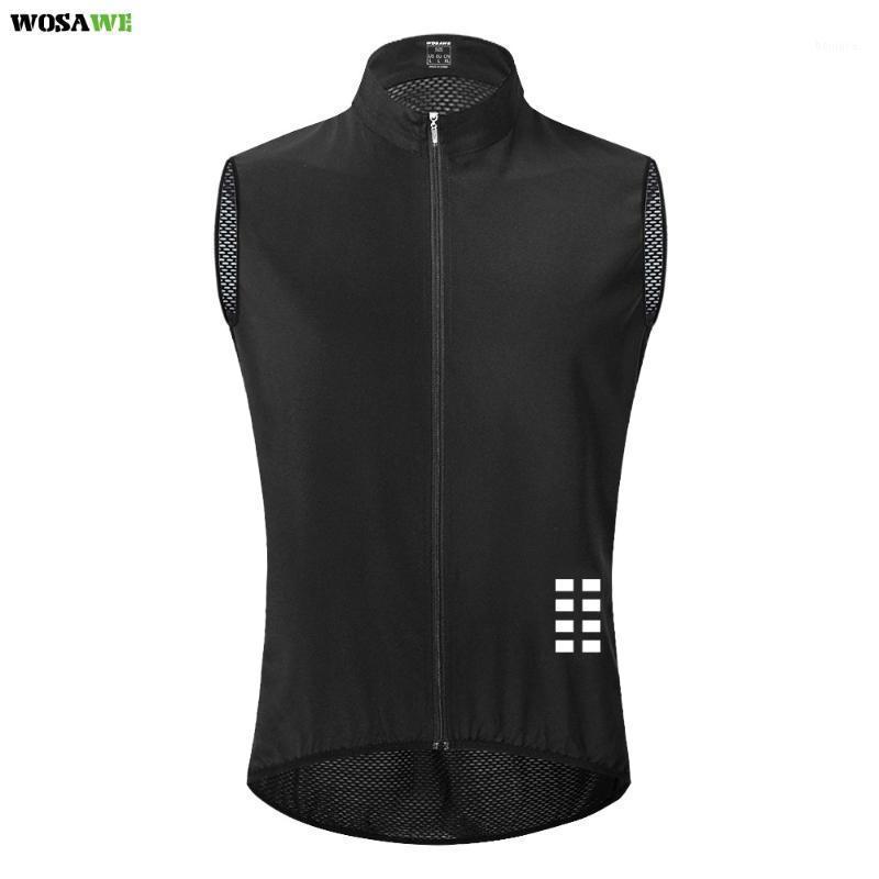 Motocycle Racing Kleidung Wosawe Reflektierende Radweste Winddicht Lightweight Ciclismo Bike Sleeveless Jersey Atmungsaktives Mesh Gilet1