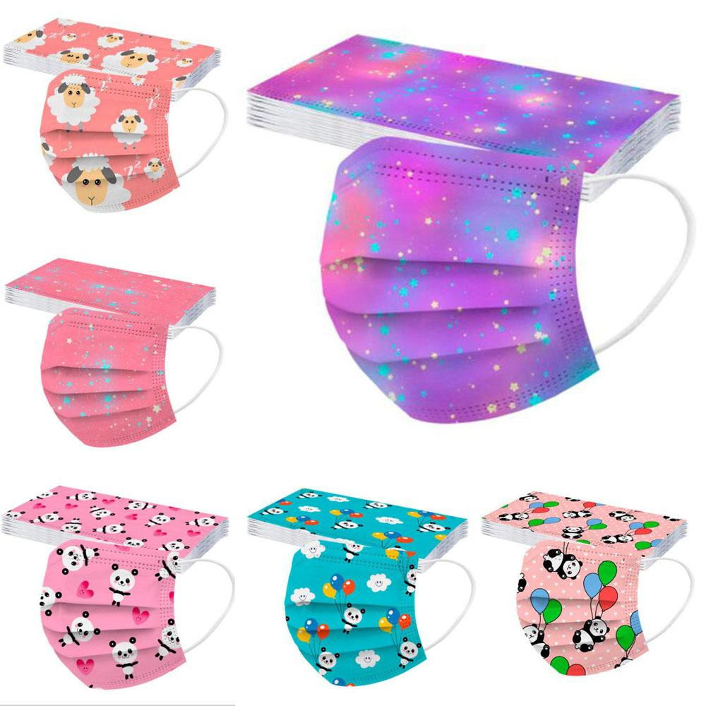 Disposable Children Non-Woven Mouth Mask Anti Pollution Breathable Cute Cartoon Print Face Masks Dustproof Prevention of Influenza Mask