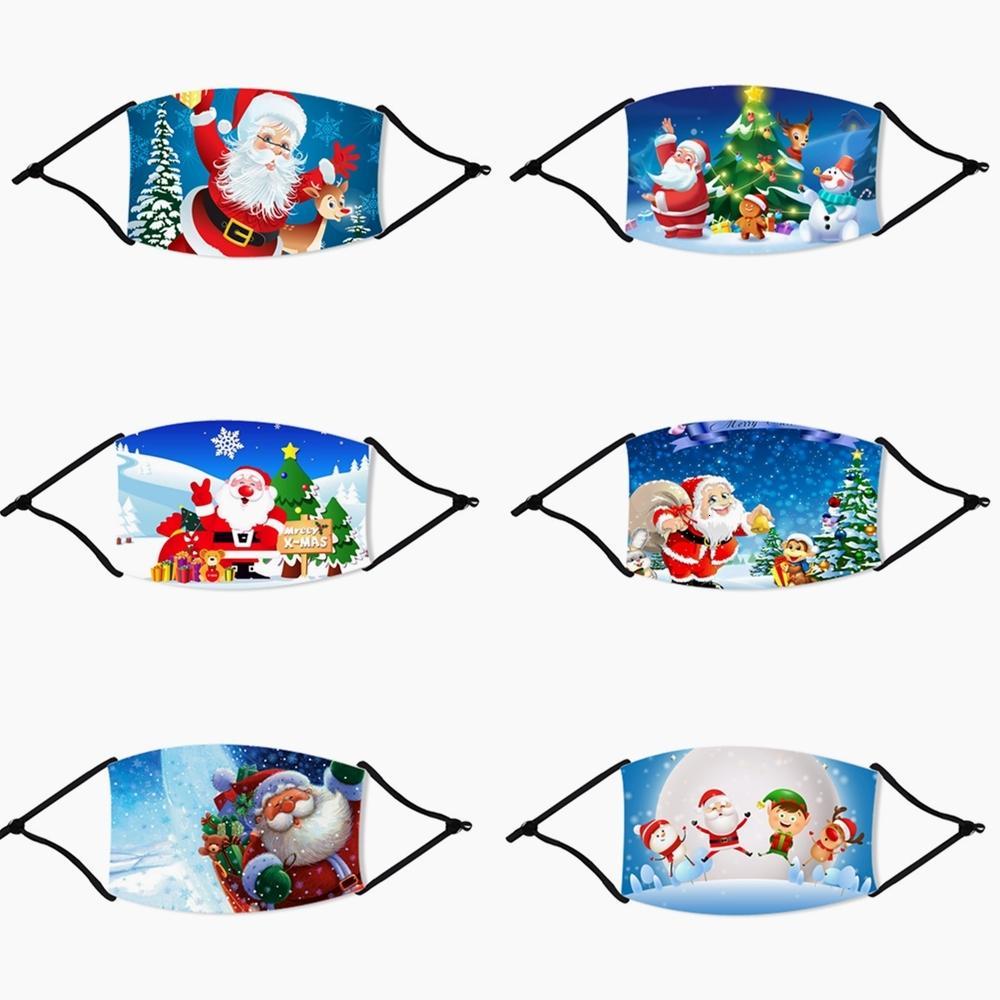 Neue erwachsene Karikatur i Silk Deer Printed Weihnachten Fa Antistaub-Schneeflocke-Weihnachts Masken Waschbar Maske Dhl Gwd1785