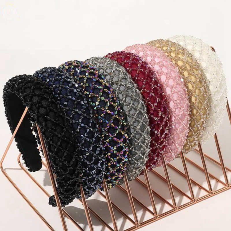 Crystal Hair Bands Shiny acolchado DIEADA DIEADA DIVENIA LADY LIGHT LUGLURY HOOT HOOT GURANOS TEADDRESS Moda Accesorios para el cabello 8 colores DW5990