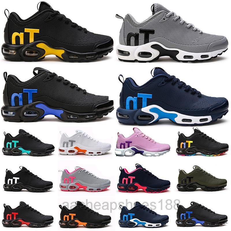 2019 Tasarımcı Mercurial TN Erkekler Ayakkabı Moda Bayan Sneakers Chaussures Femme TN KPU Üçlü S Spor Eğitmenler Yastık Boyutları EUR40-46 FDC6