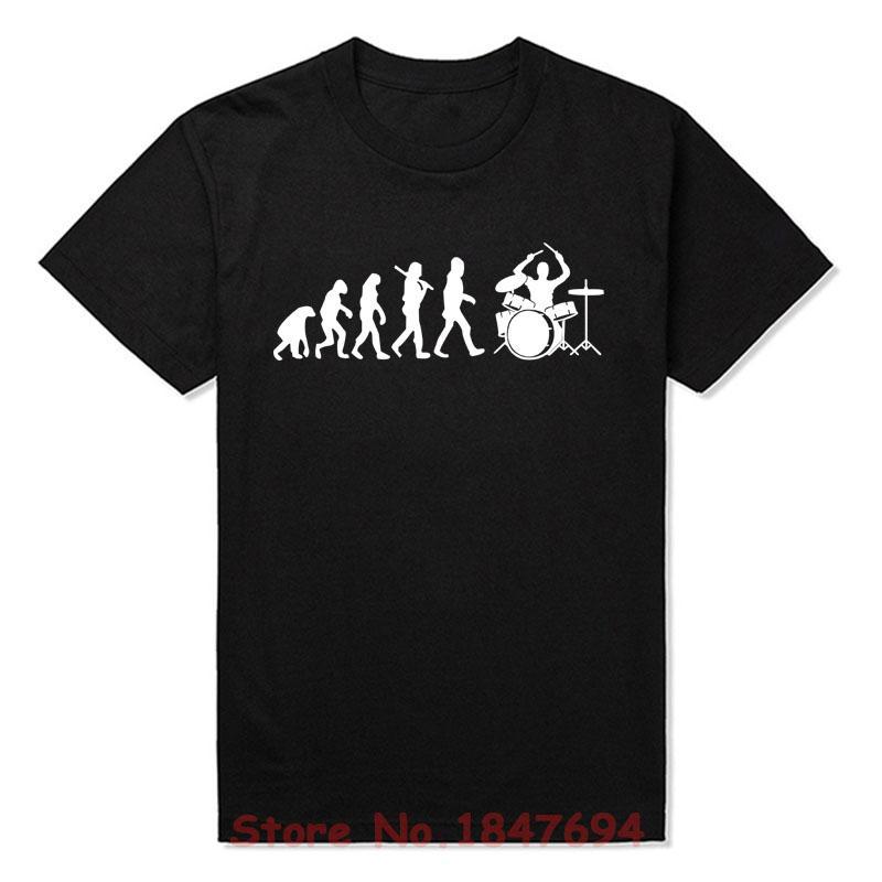 Sport Neuer Sommer-Art-Entwicklung des Schlagzeuger T-Shirt Lustiges Geschenk Musik Musiker T-Shirts Männer Short Sleeve Top Tees