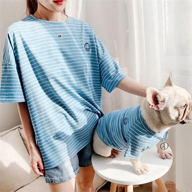 Animaux doux Chiens Vêtements Coton Coton Pet de Pet Vêtements Pour Petit Dog Grand Costume Été Été Chemise de Pierre Chiot Outfit Ropa Perro Lj201130