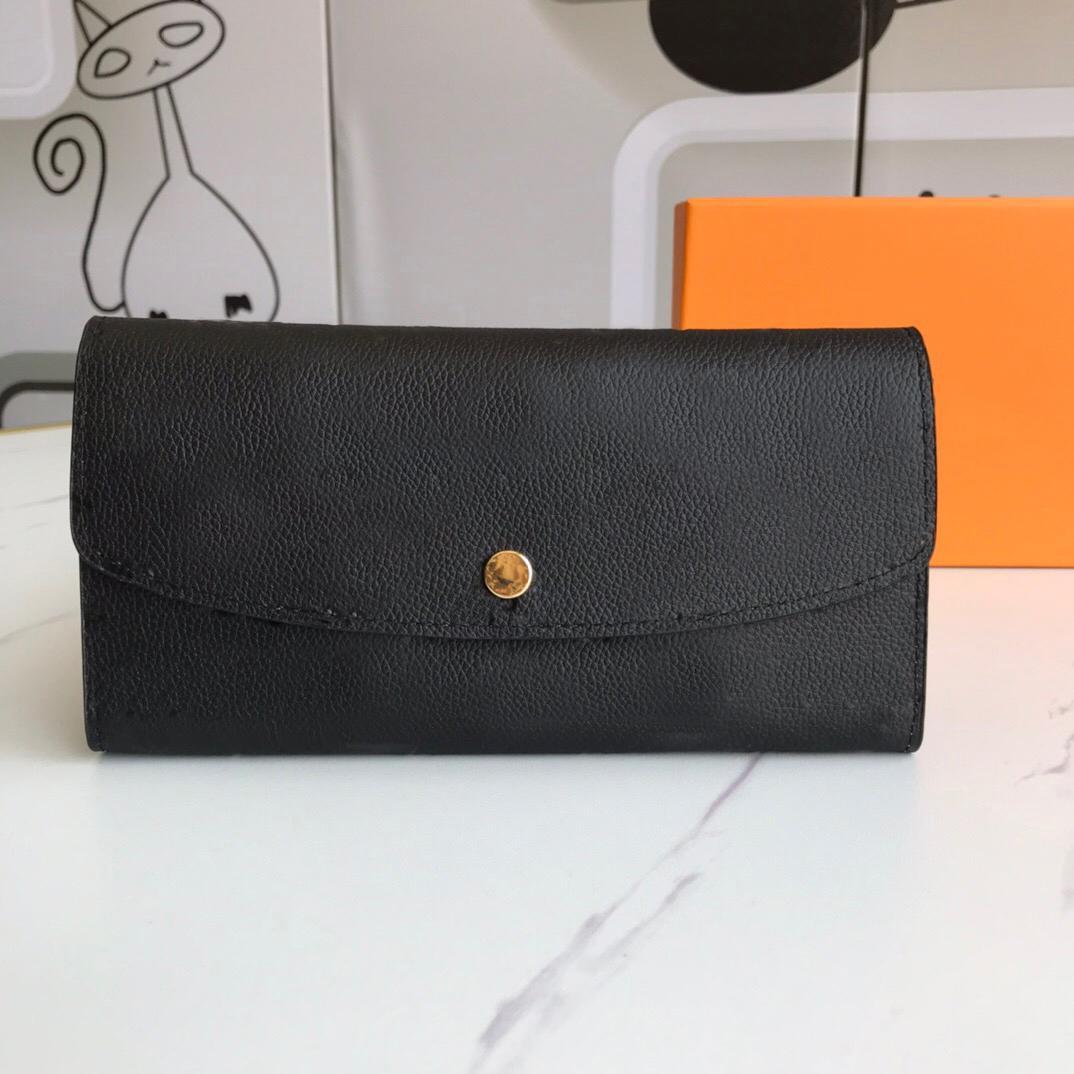 Hohe Qualität Luxurys Designer Brieftasche Geldbörse Frau Mode Clutch Geldbörsen Monogramm Emilie Lange Brieftasche Kartenhalter Geldbörse mit Kasten Staubbeutel