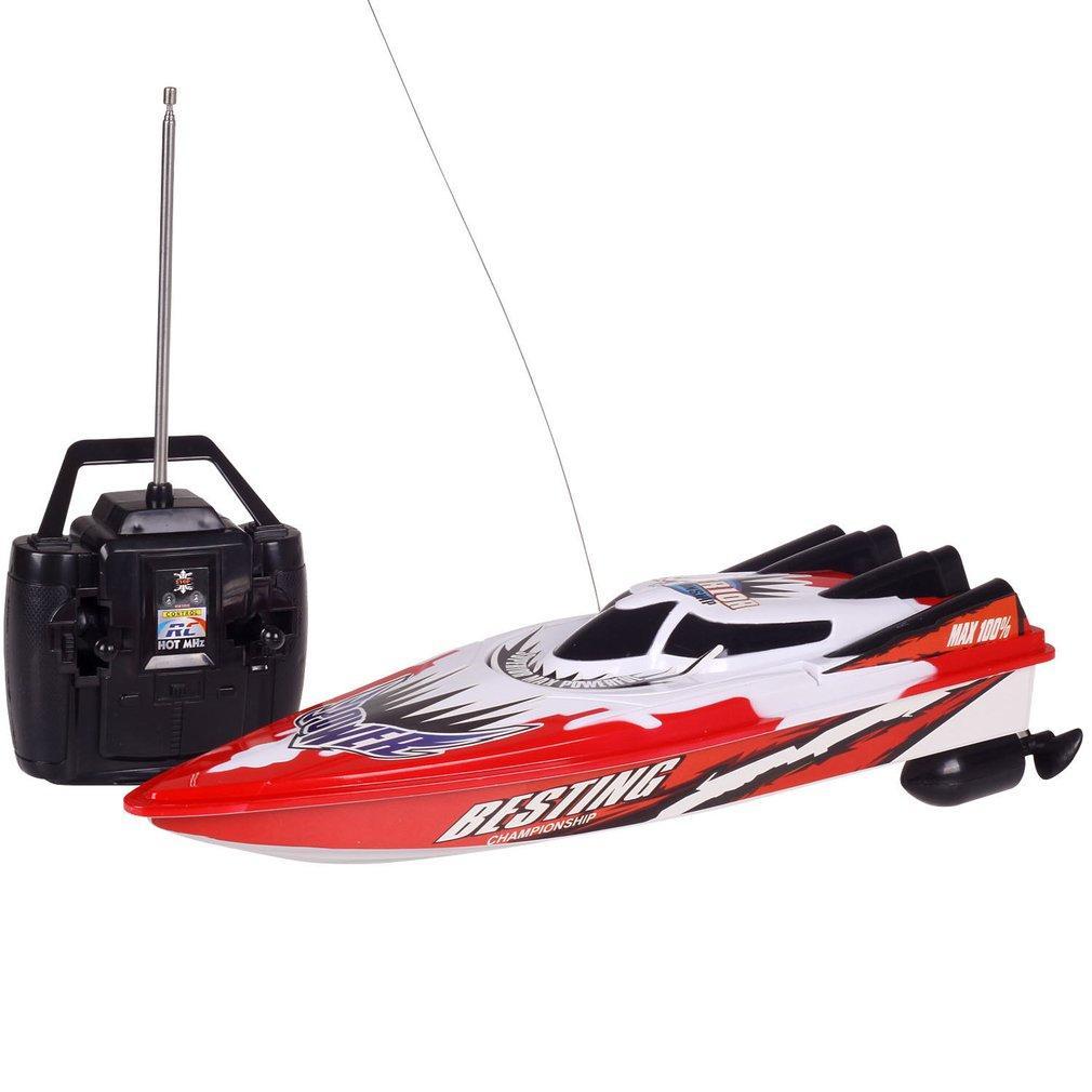 RC Racing Radio Remote della barca a due motori di controllo della barca di velocità Strong Power System Fluid Type Design Kids Toy esterna ad alta velocità