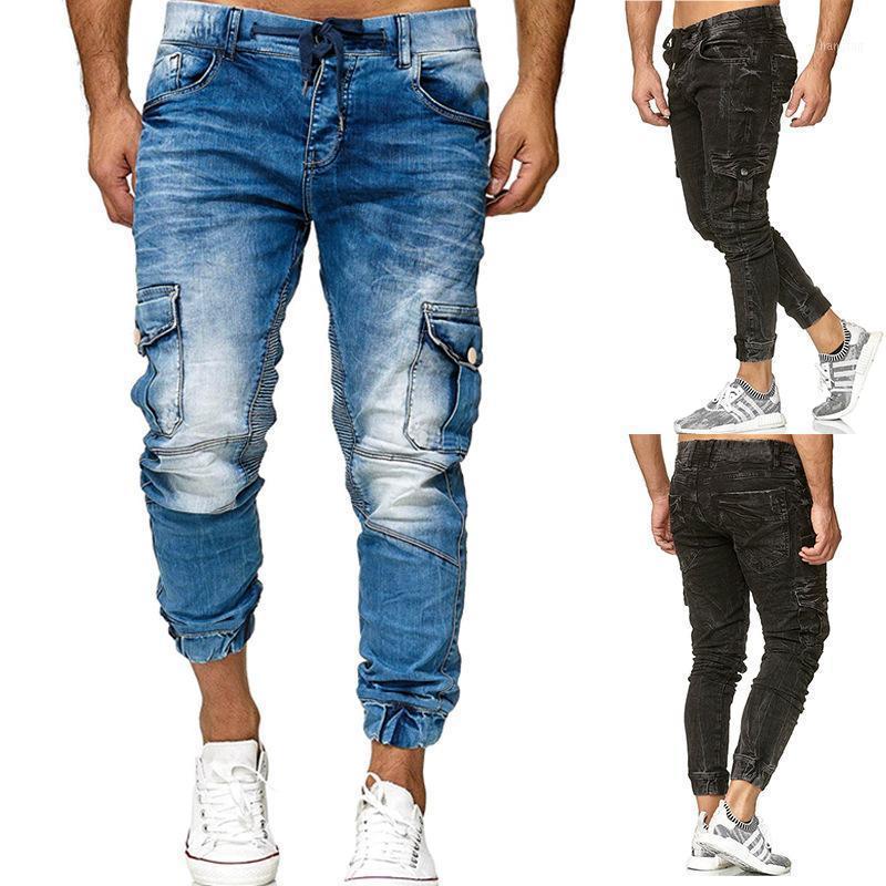 Мужские джинсы мужской бренд стиль стиль стиль персонализированные моды бизнес случайные брюки мужские худые для Mens1