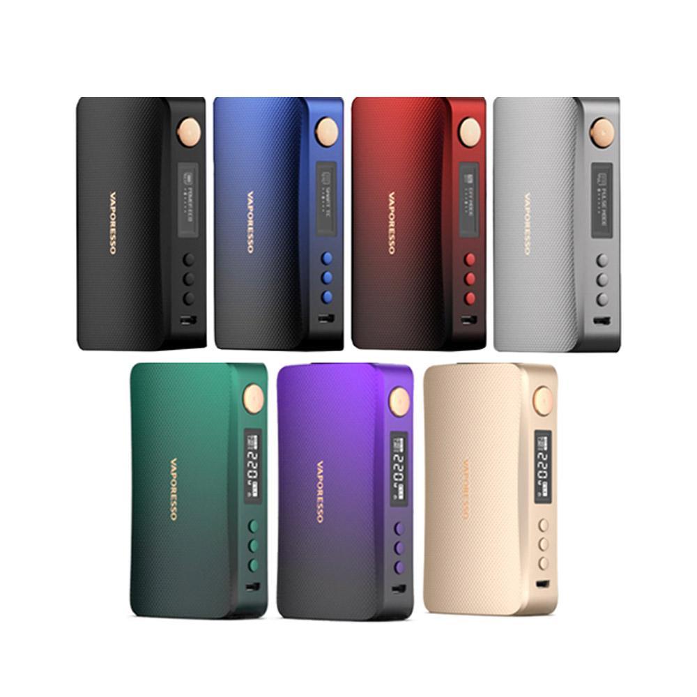 PMTA Vaporesso GEN S Box Mod 220W ecigarette dual 18650 battery vape mod with New AXON Chip