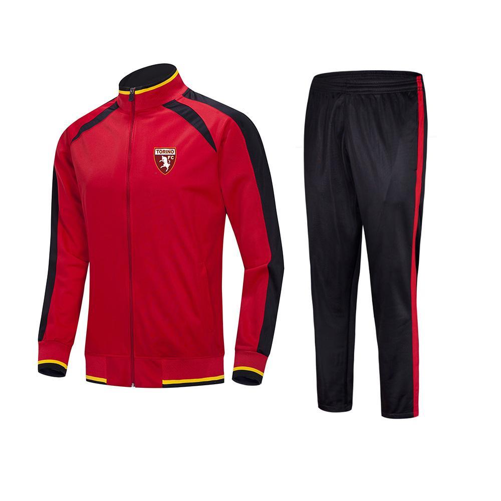 20-21 Torino Veste sport de football de football Kids Survêtements costume en cours de formation en plein air ensembles Sportwear hommes