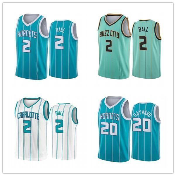 NCAA 2021 PROCREIL PROJET 2 Jersey Lamelo Ball Jersey Mint Vert Bleu Nouvelle ville Basketball Man Charlotte Edition cousue S XXL