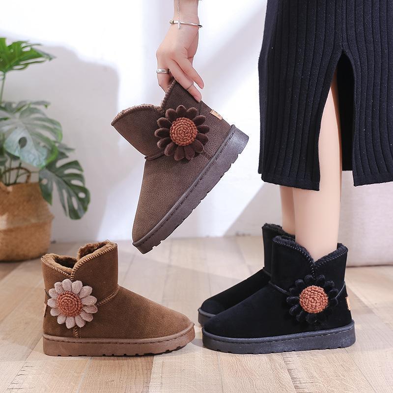 Горячие сапоги с распродажами для женщин для женщин ботинки для зимнего теплого мехового мехового снега мода платформы меховые туфли на пинетки nvxue27