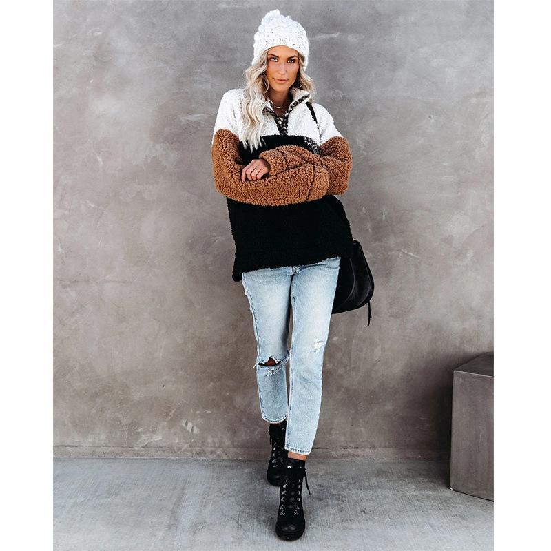 Vendita calda Inverno 2020 della peluche cucito Donne Maglione