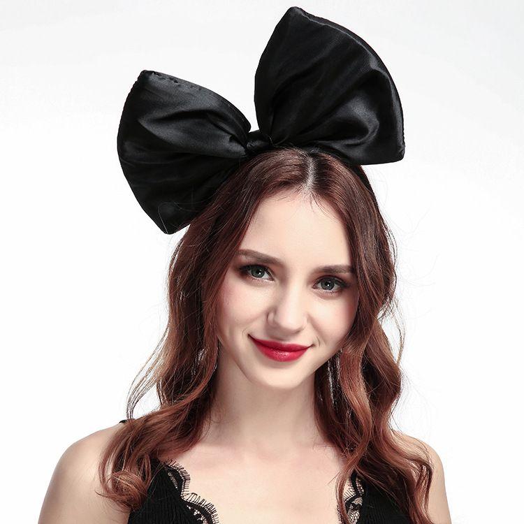 Fashion Large-Haar-Band-reine Farben-großes Bogen-Tuch Stirnband Mädchen Reise-Haar-Band-Frauen-Partei-Haar-Zusätze