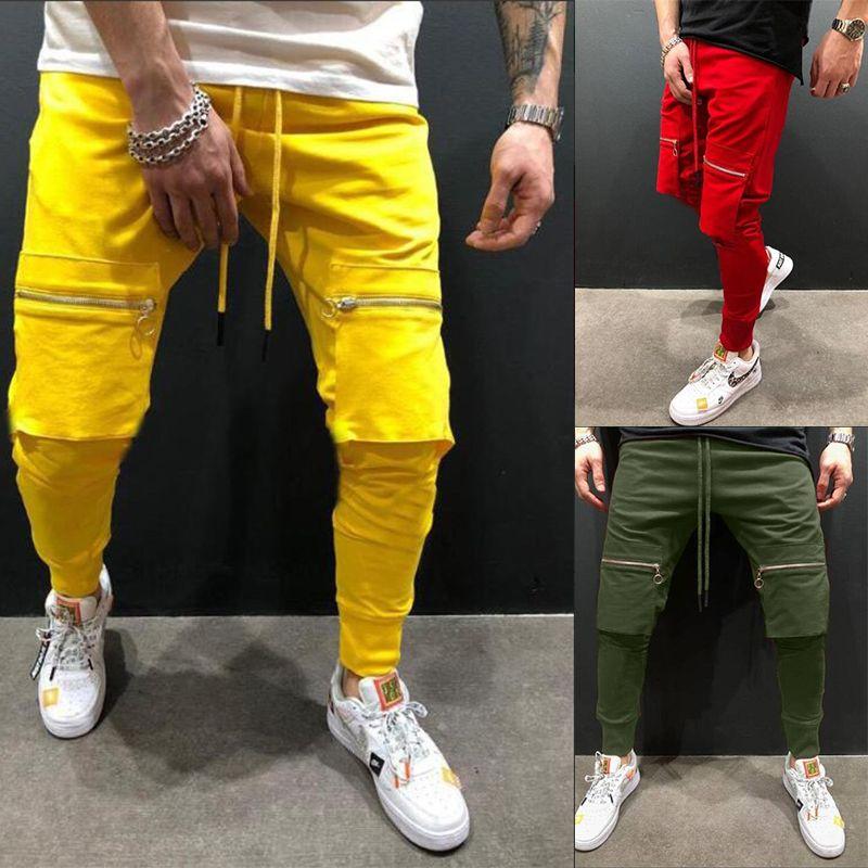 FFXZSJ BRAND 2019 Мужские брюки наружные хип-хоп Улица бегагинг спортивные узкие эластичные талии случайные брюки