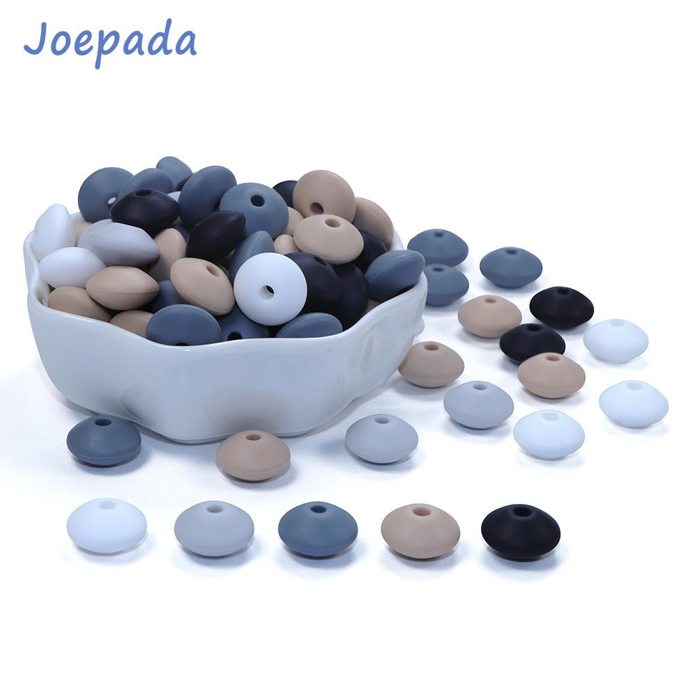 Joepada 300Pcs/lot 12mm Silicone Teething Beads Lentils Abacus Teethers Bead for DIY Baby Pacifier Chain Food Grade Baby Teether 201123