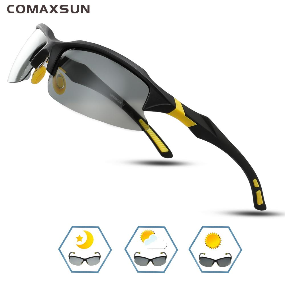 COMAXSUN Professional Photochromic Поляризованные очки велосипедные очки велосипедные очки MTB спортивные велосипеды солнцезащитные очки миопии UV 400 Q0119