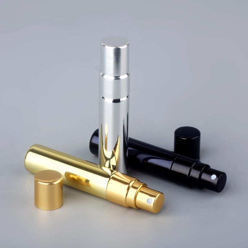 30PCS/Lot 5ml Mini Portable Perfume Bottle Spray Atomizer UV Plating Refillable Empty Cosmetic Container