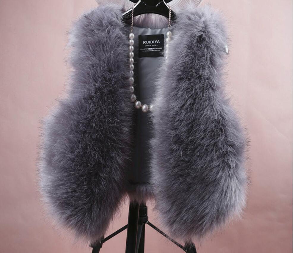 2020 Roupas de inverno olhar casaco de pele novo casaco de pele fina colete outono e inverno imitação de pele de raposa colete curto