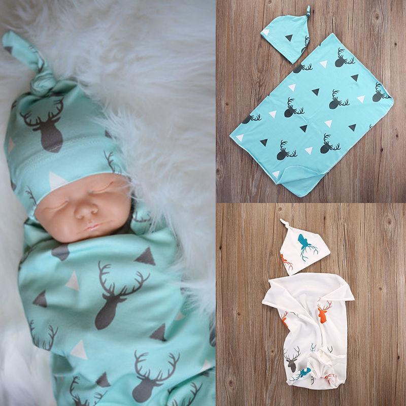 Sıcak Yenidoğan Bebek Bebek Unisex Kundaklama Wrap Yumuşak Zarf Kundaklama Uyuyan Battaniye
