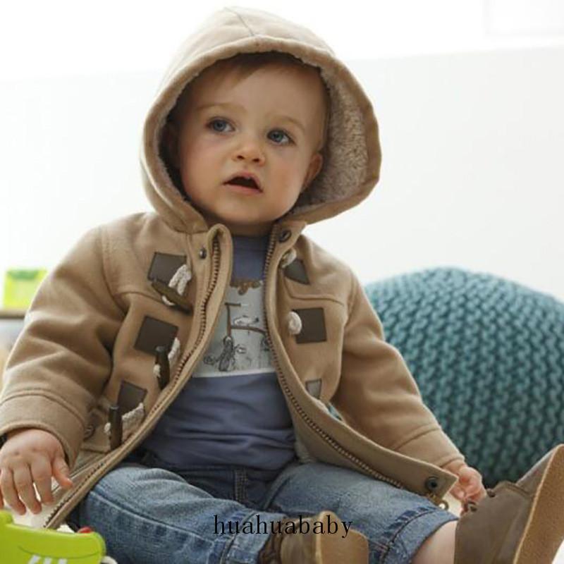 اسلوب جديد أطفال سترة واقية بنات وصبي معطف بيج الأطفال نمط الكورية منتصف المدة مقنع الخصر صامد للريح دثار