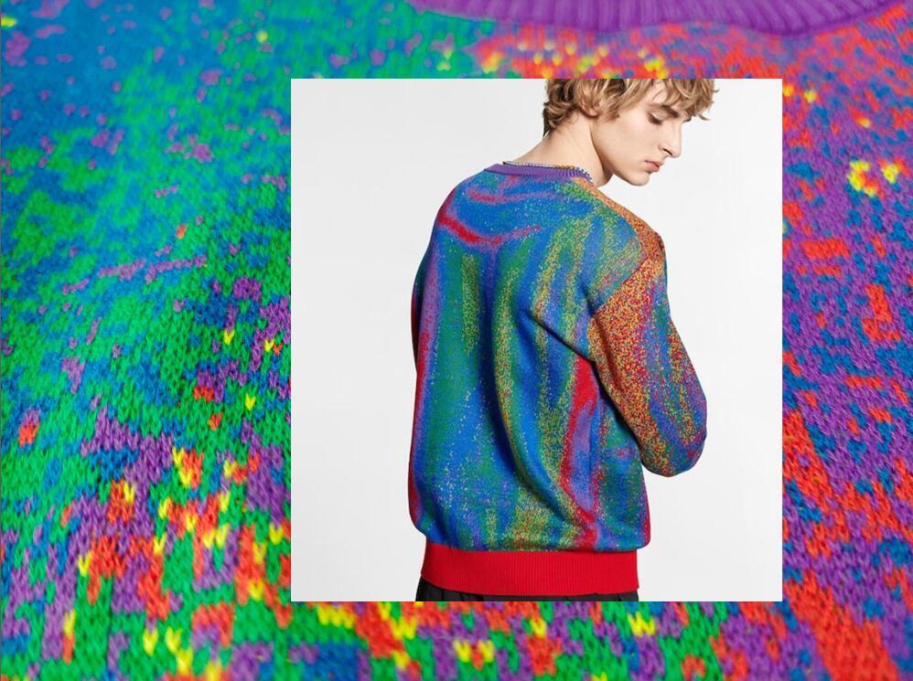 Homme Designers Vêtements Sweat à capuche Poches Lettre Sky Peinture Jacket Mens d'hiver Manteaux Hommes Designers Sweaters Hommes Vêtements Noir Jaune 02