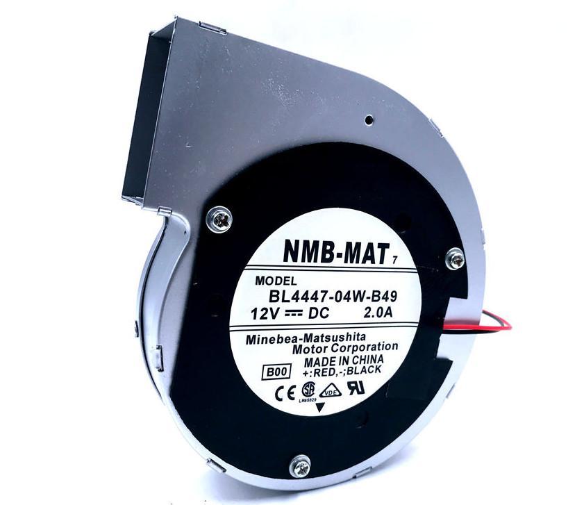 Para original NMB BL4447-04W-B49 11028 12V 2A 2wire turbina do ventilador centrífugo quadro soprador de metal