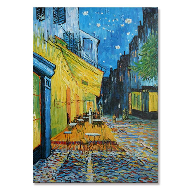 Vincent van Gogh de café terraço à noite cartaz Poster Giclee mão pintado pintura a óleo pintura a óleo arte para sala de estar Decoração de casa não enquadrado