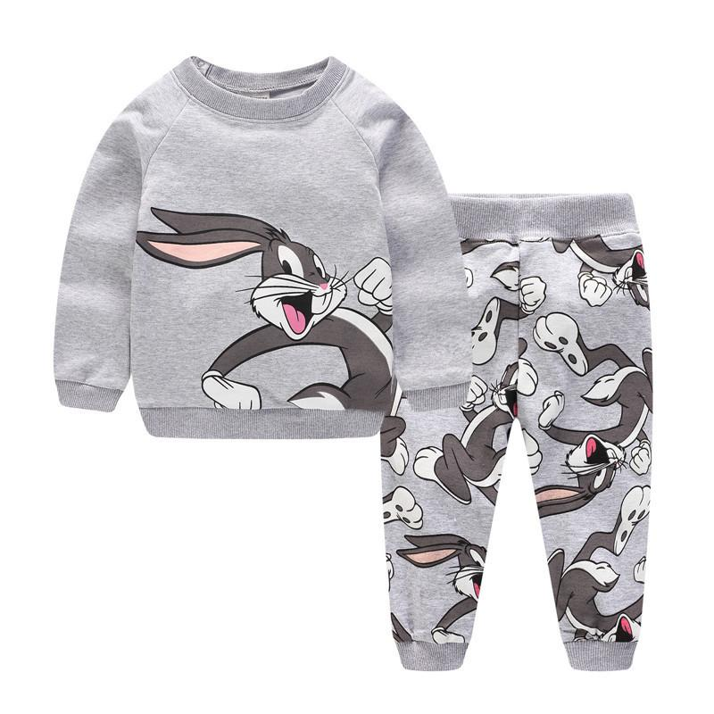 Jumping Meters Boys Autumn Winter Clothing Sets Cotton Animals Printed Baby Clothes For Boys Girls Wear New Arrival Outfits LJ200831