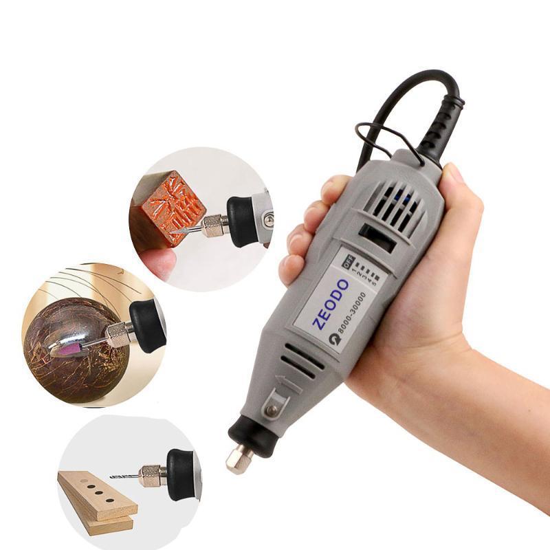 130W Mini Machine de gravure Définir la vitesse de perçage de vitesse électromécanique Polissage de polissage micro Perceuse électrique faible vitesse acoustique