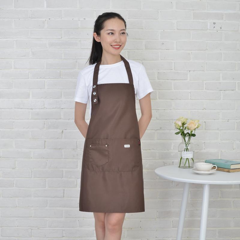 ,, Anti-incrustantes avental, café, loja de leite, restaurante, sem mangas, simples e elegante, tamanho ajustável durável sujeira resistente