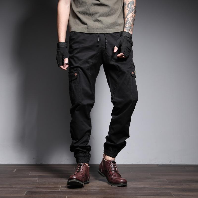 Outono de 2020 novas calças de algodão casuais calças stretch Queda 2020 novos macacão de grandes dimensões macacão overallstrousers das overallsmen casuais algodão st