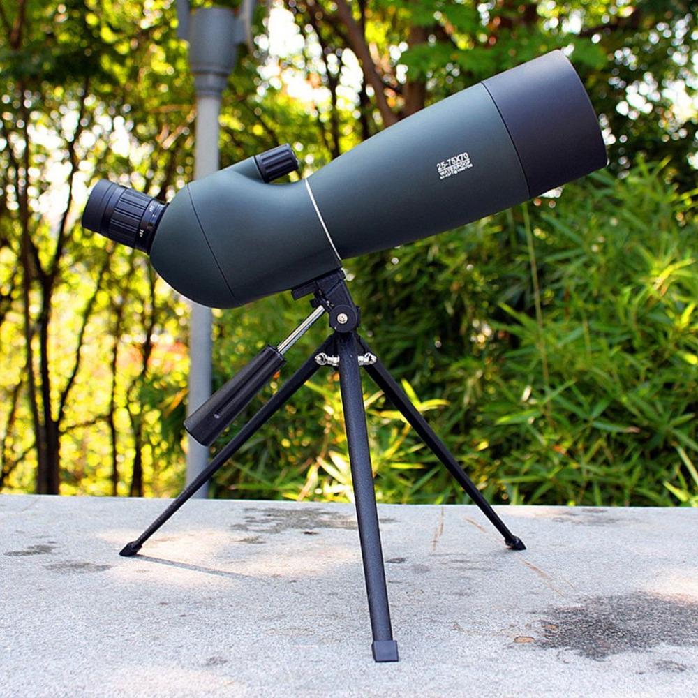 Spotting Kapsam Teleskop Yakınlaştırma 25-75x 70mm Su Geçirmez Kuş Gözetleme Avcılık Monoküler Evrensel Telefon Adaptörü Dağı T191022