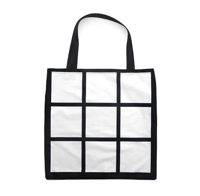 10PCS التسامي الأبيض فارغة DIY 9 الشبكة الخوخ الجلد المخملية حقيبة واحدة الجانبين حرارة كيس نقل التسوق
