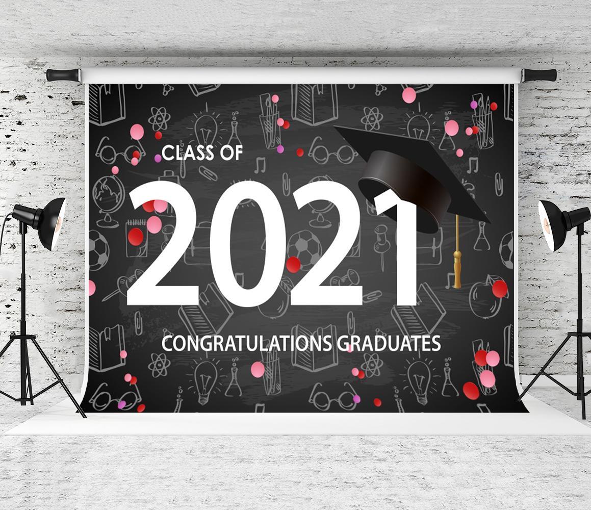 DASHAN 5x3ft Polyester Class of 2021 Backdrop Bachelor Grad Graduation 2021 Grad Banner Congratulation Graduates Photography Background Grad Congratulate Party Colleage 2021 Prom YouTube Photo Props