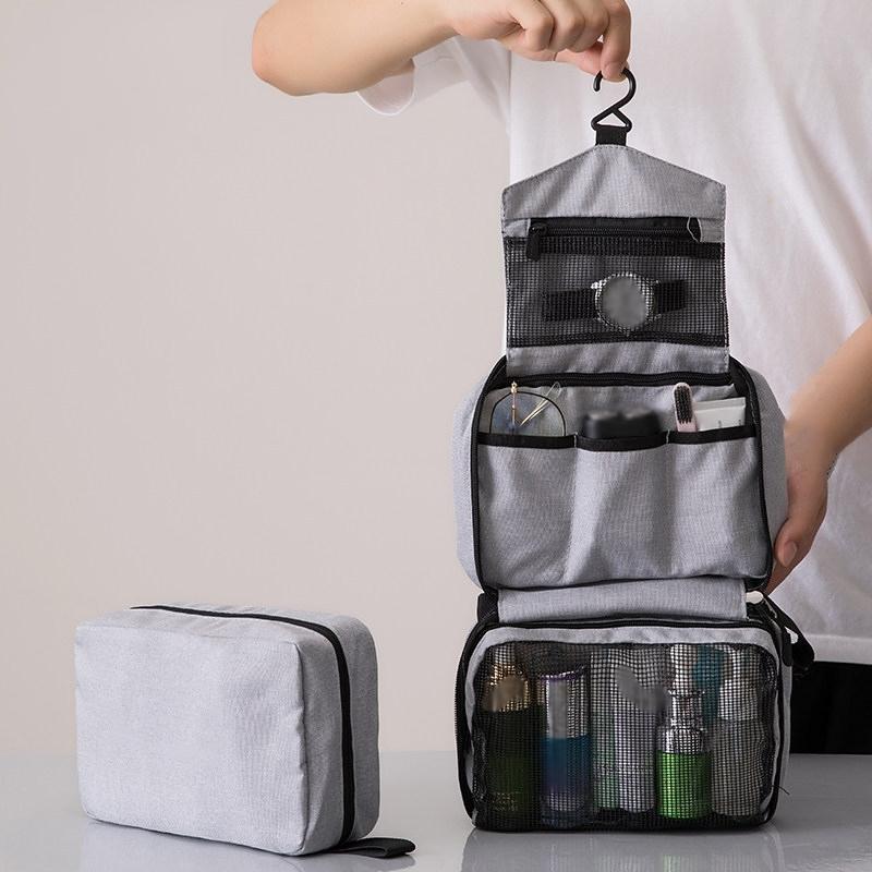 Sac de toilette suspendu pliable portable pour hommes et femmes sac de maquillage cosmétique sac de salle de bain et douche pour femme Y200714