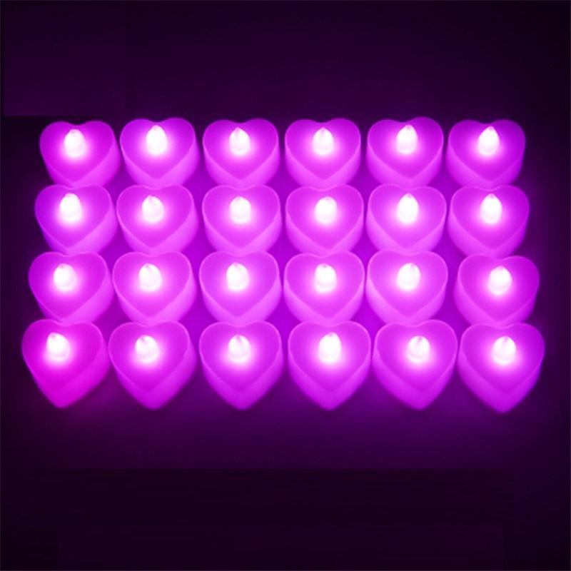 LED candela cuore candela elettronica illuminazione compleanno festa festa San Valentino halloween led giocattoli regali illuminazione barra di nozze decorazione H11903