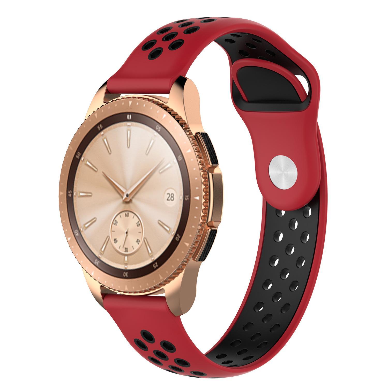 22 millimetri 20mm Bands Strap Hole Loop ibridi fasce di ricambio in silicone per Samsung Galaxy Watch 3 R840 R850 attivo 2 Cambio S3 20PCS / LOT
