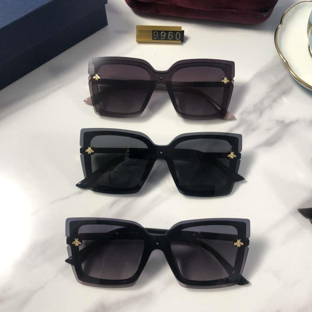 Lady Tasarımcı Güneş Lüks Güneş Kadınlar Plajı Gözlüğü Gözlük UV400 Arı 9960 5 Renk Kutu ile yüksek kalite